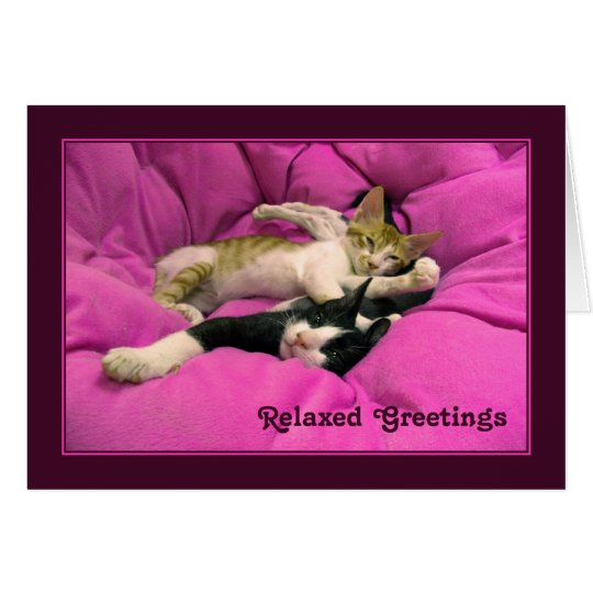 Relaxed Greetings Card