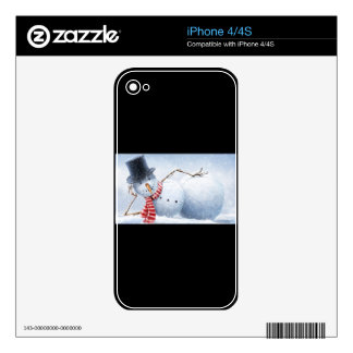 Relaxed Snowman Decals For The iPhone 4