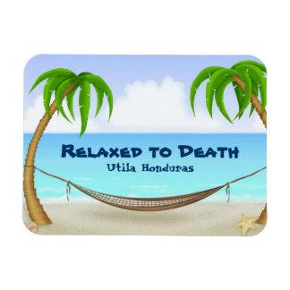 Relaxed to Death Utila Honduras Beach Magnet