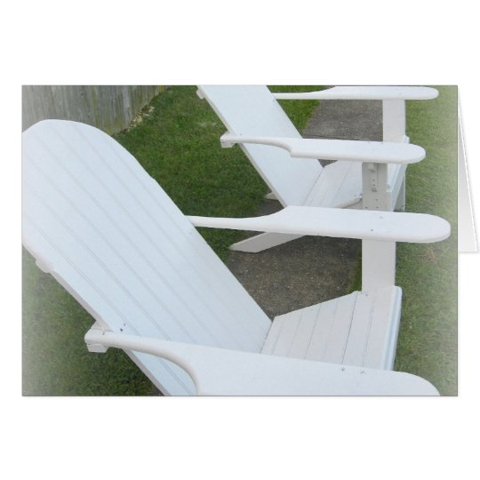 Relaxin' * Adirondack Chairs Card