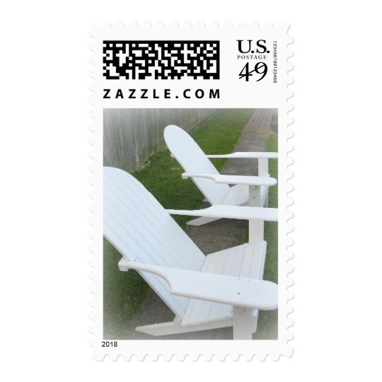 Relaxin' * Adirondack Chairs Postage
