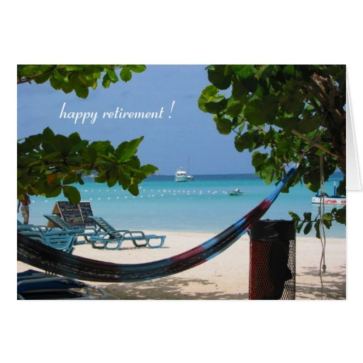 relaxin' retirement greeting card