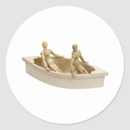 RelaxInBoat013110 Classic Round Sticker