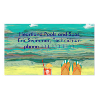 Relaxing at the Beach, Customizable Business Card