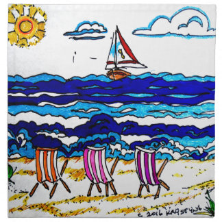 RELAXING AT THE BEACH NAPKIN