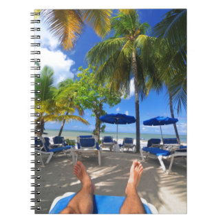 Relaxing at the beach notebook
