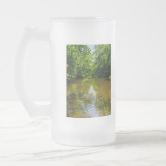 Relaxing At The Creek Frosted Glass Beer Mug
