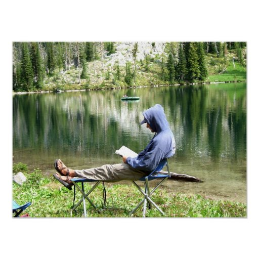 Relaxing at the East Gospel Lake 2 Poster