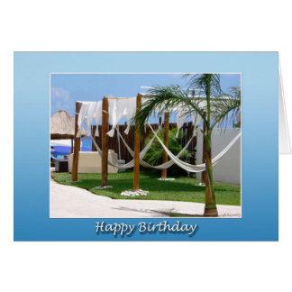 Relaxing Beach Birthday Card