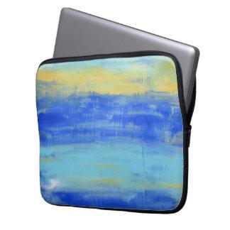 Relaxing Beach Blue Neoprene Laptop Sleeve 13 inch