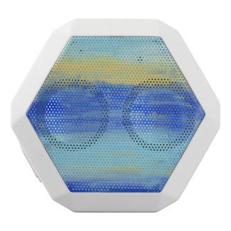Relaxing Beach Blue Yellow Abstract Art White Bluetooth Speaker