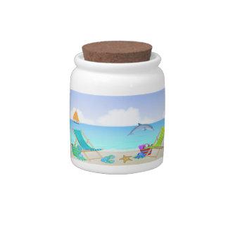 Relaxing Beach Candy Jar