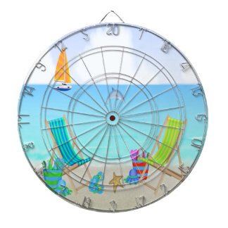Relaxing Beach Dart Board