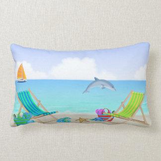 Relaxing Beach Lumbar Pillow