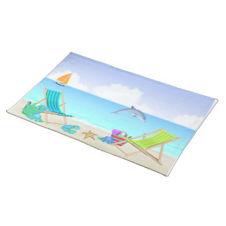Relaxing Beach Placemat Cloth Placemat