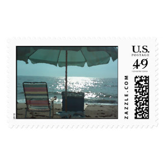 Relaxing Beach Postage Stamp