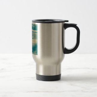 Relaxing beach scene coffee mug