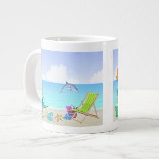Relaxing Beach Extra Large Mug