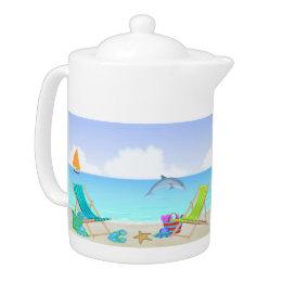 Relaxing Beach Teapot