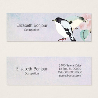 Relaxing Birds ~ Business Cards Asian Nature