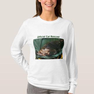 Relaxing Black Kitty Cat-lover Pet Rescue Design T-Shirt