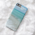 Relaxing Blue Beach Ocean Landscape Nature Scene Barely There iPhone 6 Case