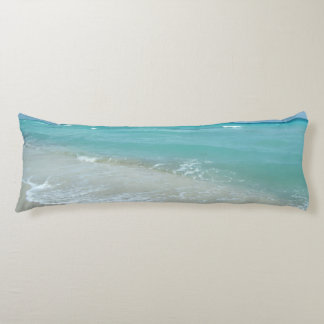 Relaxing Blue Beach Ocean Landscape Nature Scene Body Pillow