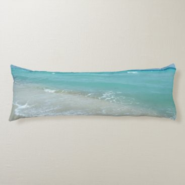 Relaxing Blue Beach Ocean Landscape Nature Scene Body Pillow