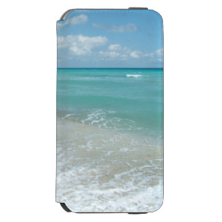 Relaxing Blue Beach Ocean Landscape Nature Scene iPhone 6/6s Wallet Case