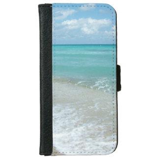 Relaxing Blue Beach Ocean Landscape Nature Scene iPhone 6 Wallet Case