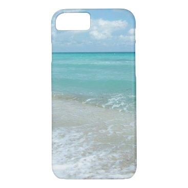 Beach Themed Relaxing Blue Beach Ocean Landscape Nature Scene iPhone 8/7 Case