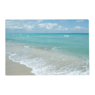 Relaxing Blue Beach Ocean Landscape Nature Scene Placemat