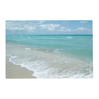 Relaxing Blue Beach Ocean Landscape Nature Scene Placemat