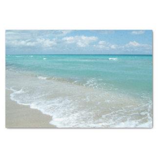 Relaxing Blue Beach Ocean Landscape Nature Scene Tissue Paper