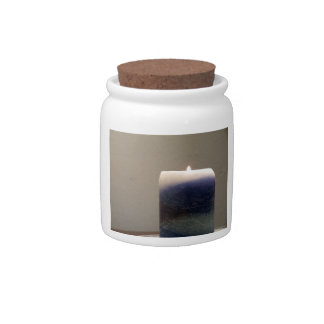 Relaxing Blue Candle 1 Candy Jar