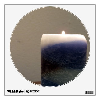 Relaxing Blue Candle 1 Room Decals