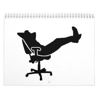 Relaxing boss office calendar