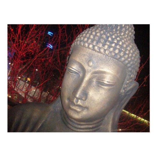 relaxing buddha postcard