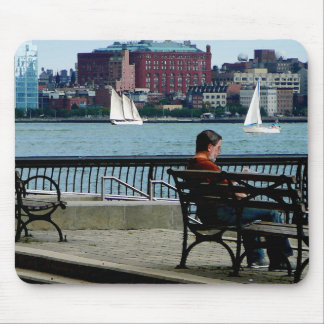 Relaxing by the Manhattan Skyline Mouse Pad