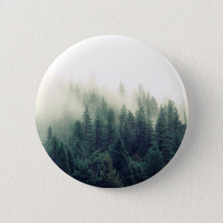 Relaxing Calming Foggy Forest Scene Pinback Button