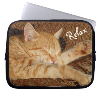 Relaxing Cat Computer Sleeve