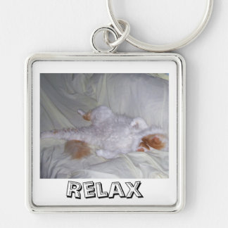 Relaxing Cat Keychain