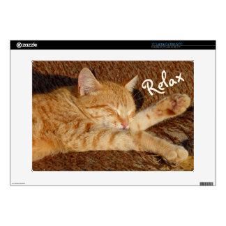 Relaxing Cat Skin For Laptop