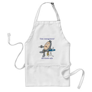 Relaxing clock adult apron