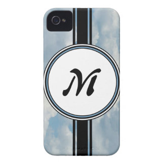 Relaxing Clouds and Sky Printed Monogram iPhone 4 Case
