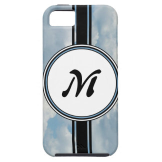 Relaxing Clouds and Sky Printed Monogram iPhone SE/5/5s Case