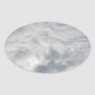 Relaxing Cloudy Day Oval Sticker
