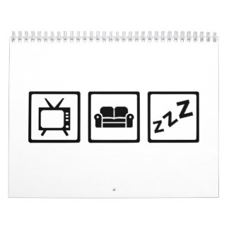 Relaxing couch television snore calendar