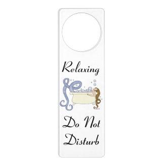 Relaxing Do Not Disturb Mermaid Door Hanger