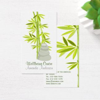Relaxing elements zen symbols business card